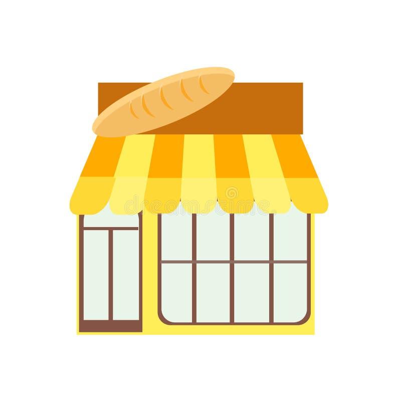 Sinal e símbolo do vetor do ícone da padaria isolados no fundo branco, conceito do logotipo da padaria ilustração do vetor