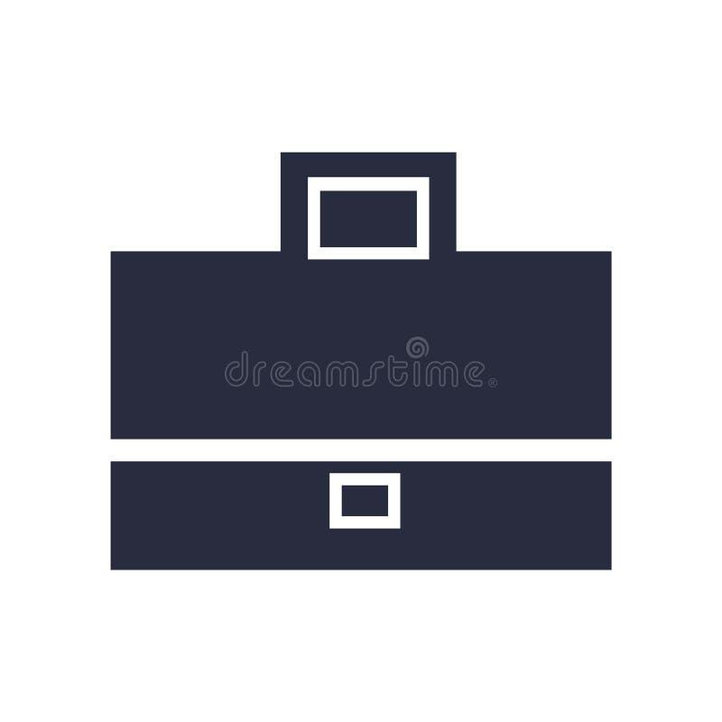 Sinal e símbolo do vetor do ícone da pasta isolados no fundo branco, conceito do logotipo da pasta ilustração do vetor