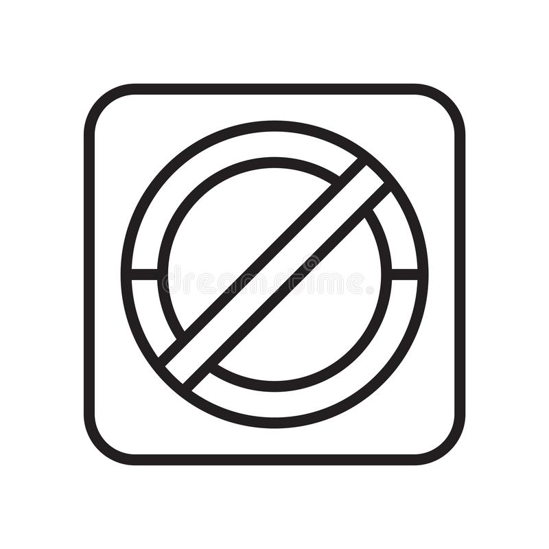 Sinal e símbolo do vetor do ícone do sinal da proibição isolados no fundo branco, conceito do logotipo do sinal da proibição ilustração do vetor