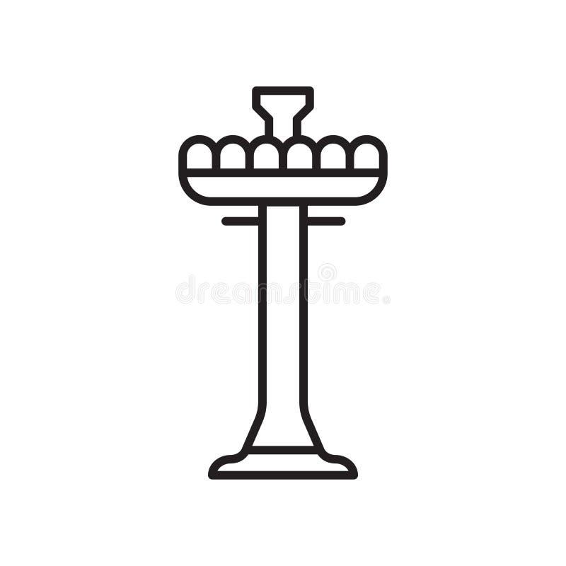 Sinal e símbolo do vetor do ícone da queda livre da torre isolados no fundo branco, conceito do logotipo da queda livre da torre ilustração stock