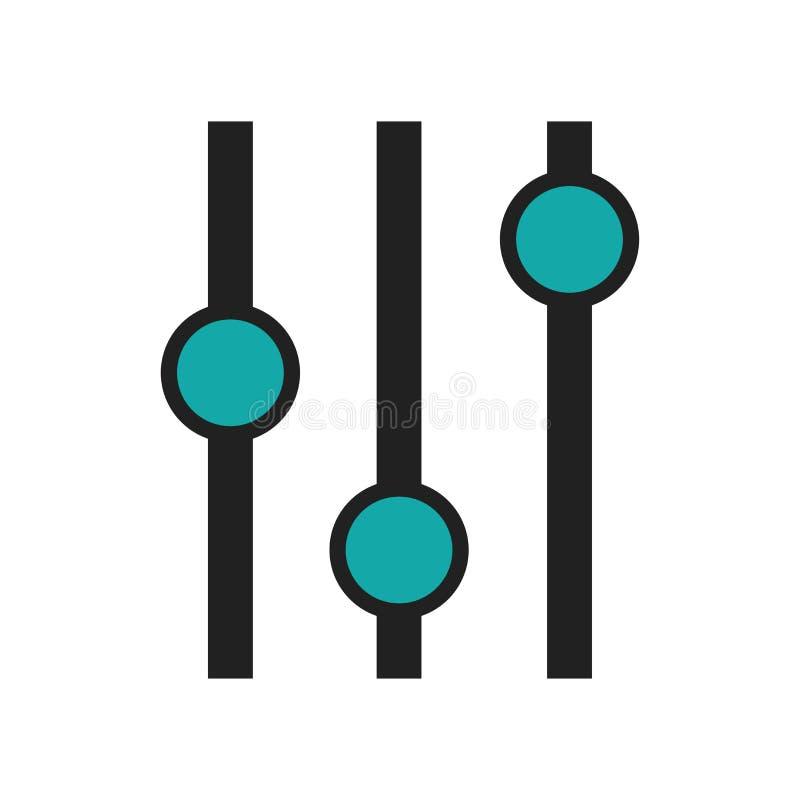 Sinal e símbolo do vetor do ícone do símbolo da relação da carta do lote da caixa isolados no fundo branco, logotipo do símbolo d ilustração do vetor