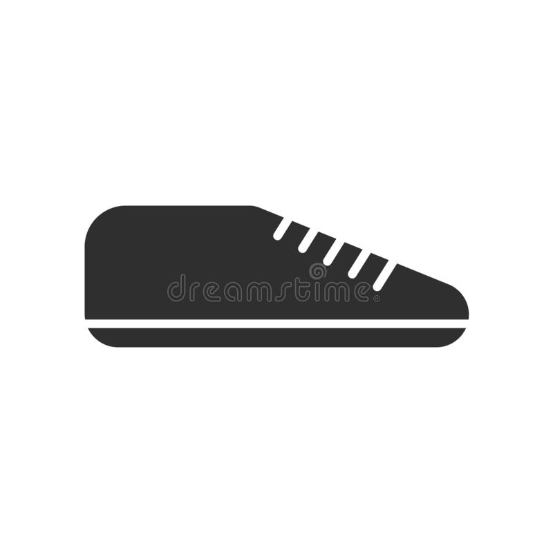 Sinal e símbolo do vetor do ícone da sapatilha isolados no fundo branco, conceito do logotipo da sapatilha ilustração stock