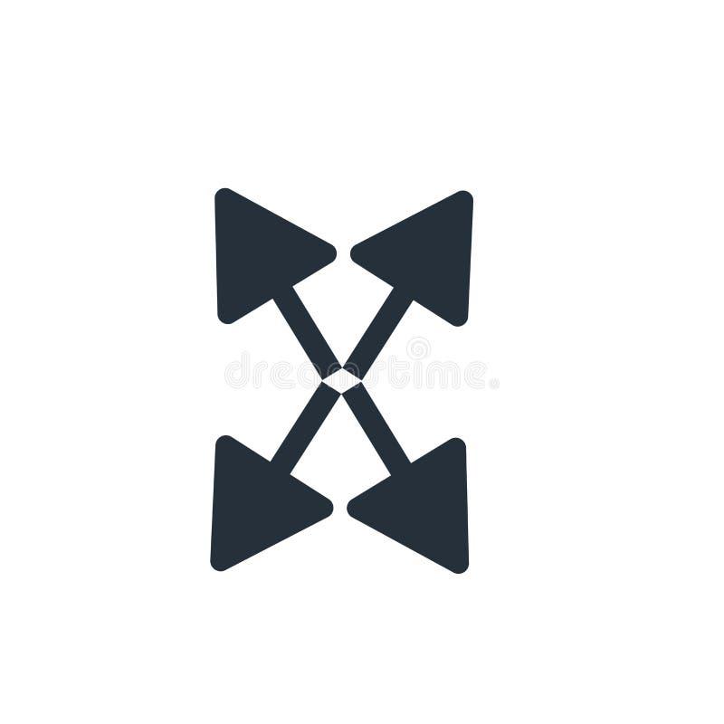 Sinal e símbolo do vetor do ícone da seta da exportação isolados no fundo branco, conceito do logotipo da seta da exportação ilustração do vetor