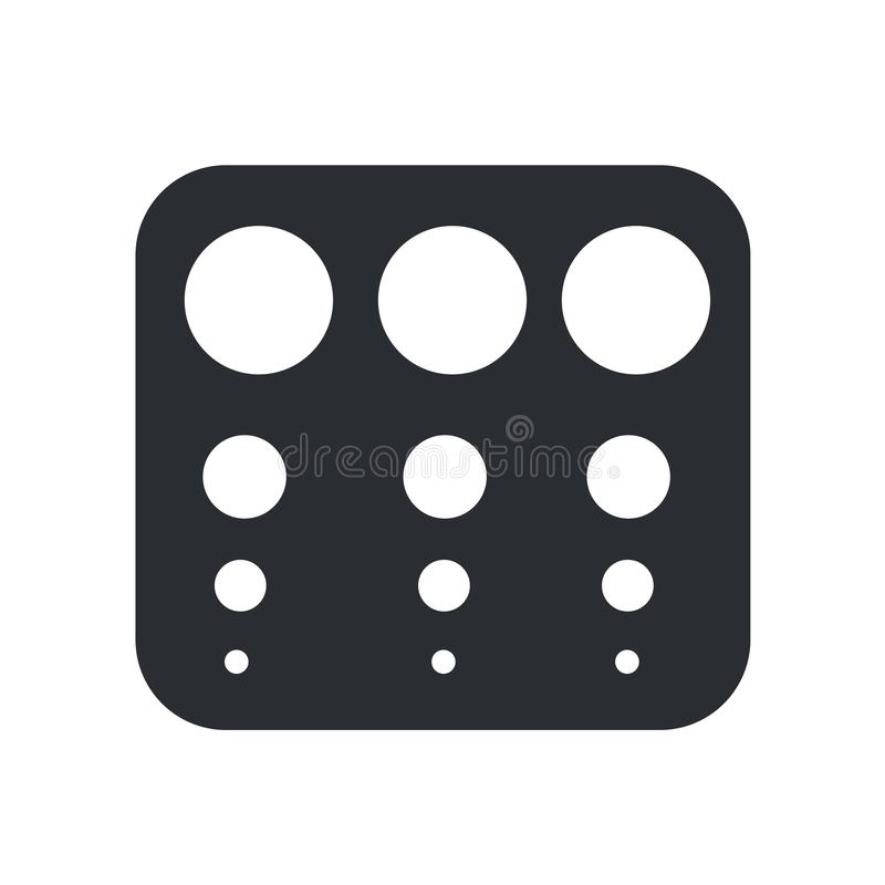 Sinal e símbolo do vetor do ícone da tabela da verificação de vista isolados no fundo branco, conceito do logotipo da tabela da v ilustração royalty free