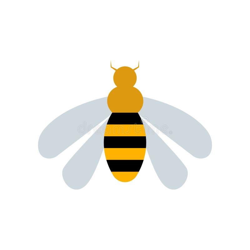 Sinal e símbolo do vetor do ícone da vespa isolados no fundo branco, W ilustração royalty free