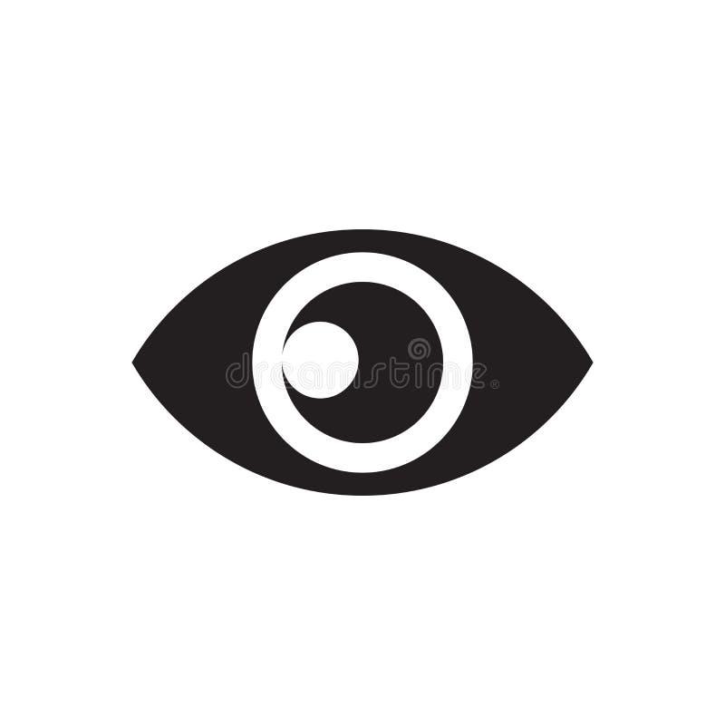 Sinal e símbolo do vetor do ícone da vista isolados no fundo branco, conceito do logotipo da vista ilustração royalty free