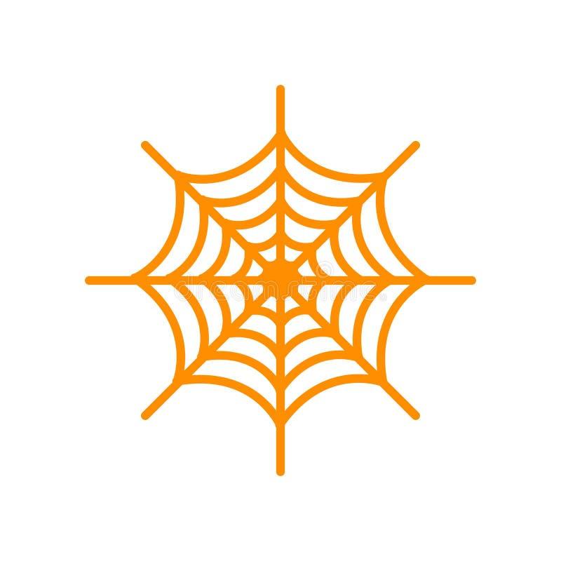 Sinal e símbolo do vetor do ícone da Web de aranha isolados no backgro branco ilustração do vetor