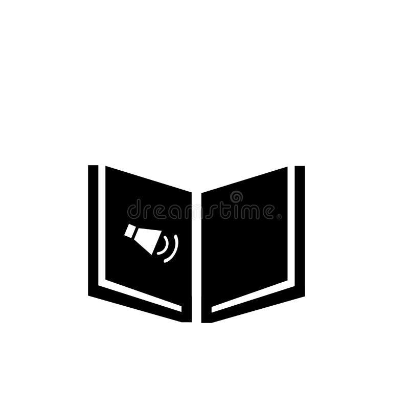 Sinal e símbolo do vetor do ícone de Audiobook isolados no fundo branco, conceito do logotipo de Audiobook ilustração stock