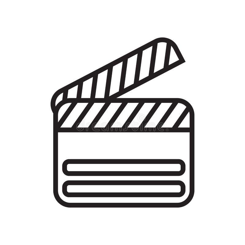 Sinal e símbolo do vetor do ícone de Clapperboard isolados no backg branco ilustração royalty free