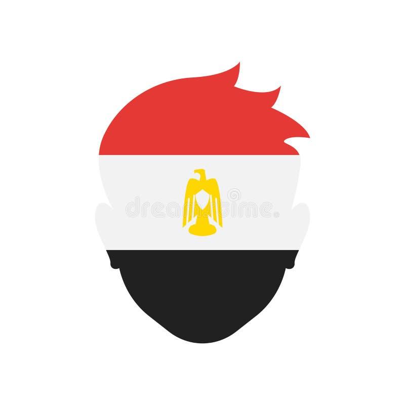 Sinal e símbolo do vetor do ícone de Egito isolados no fundo branco ilustração royalty free
