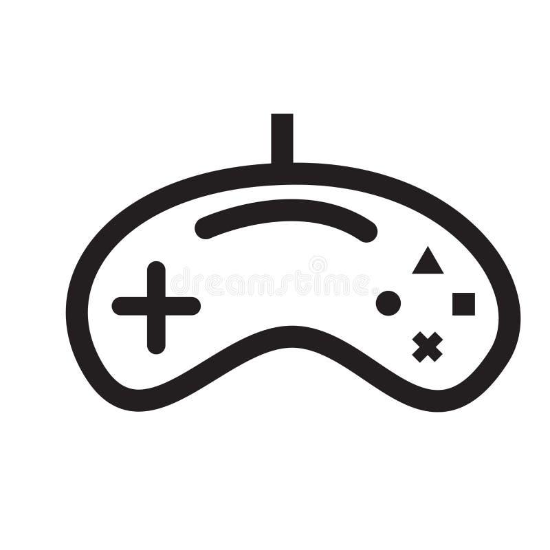 Sinal e símbolo do vetor do ícone de Gamepad isolados no fundo branco ilustração stock