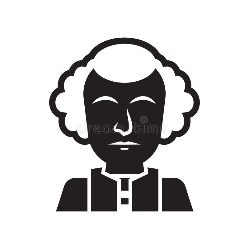 Sinal e símbolo do vetor do ícone de George Washington isolados no branco ilustração stock