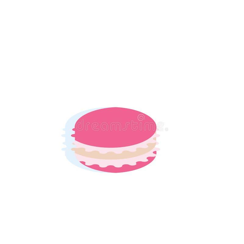 Sinal e símbolo do vetor do ícone de Macaron isolados no fundo branco, conceito do logotipo de Macaron ilustração do vetor