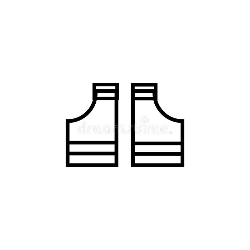 Sinal e símbolo do vetor do ícone de pano da camisa do preto t do jogador de futebol americano isolados no fundo branco, jogador  ilustração royalty free