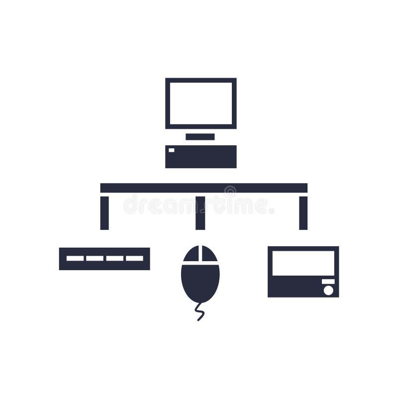 Sinal e símbolo do vetor do ícone de Sitemap isolados no fundo branco ilustração stock