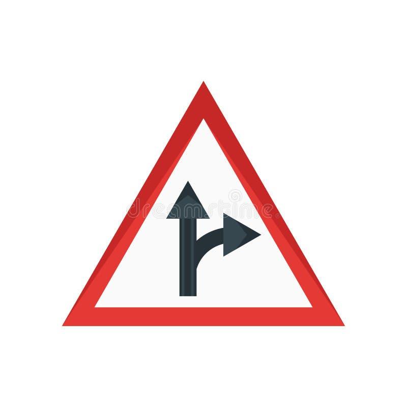 Sinal e símbolo do vetor do ícone do sinal de tráfego isolados no fundo branco, conceito do logotipo do sinal de tráfego ilustração stock