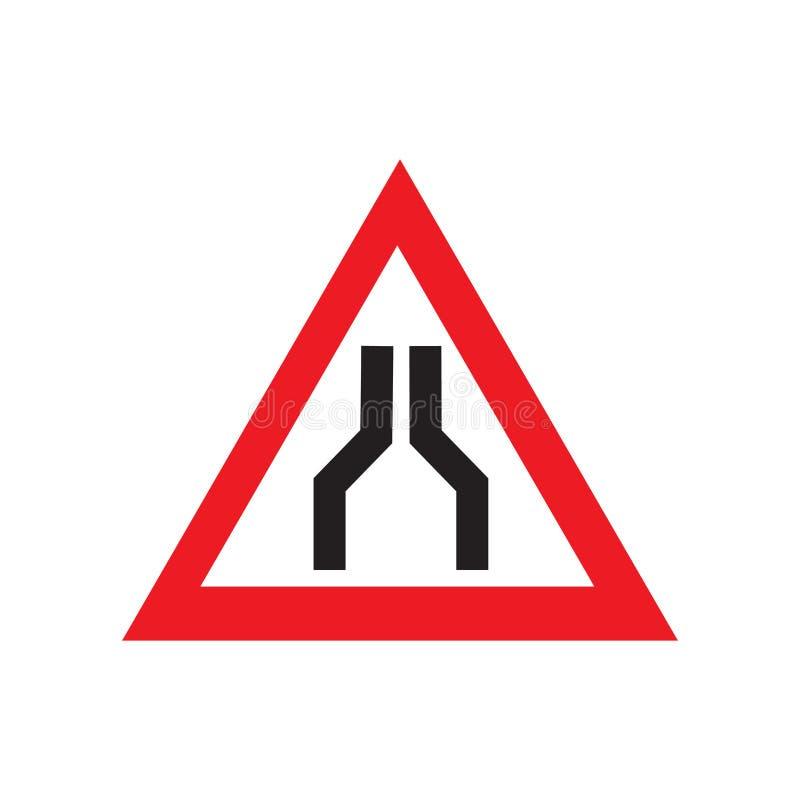 Sinal e símbolo do vetor do ícone do sinal de tráfego isolados no fundo branco, conceito do logotipo do sinal de tráfego ilustração do vetor