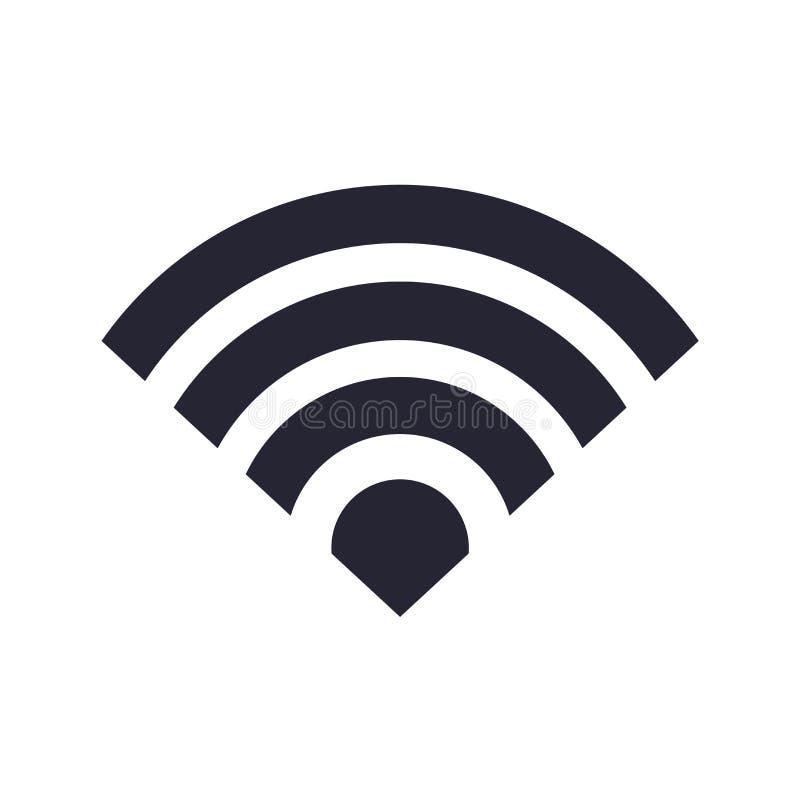 Sinal e símbolo do vetor do ícone de Wifi isolados no fundo branco, conceito do logotipo de Wifi ilustração stock