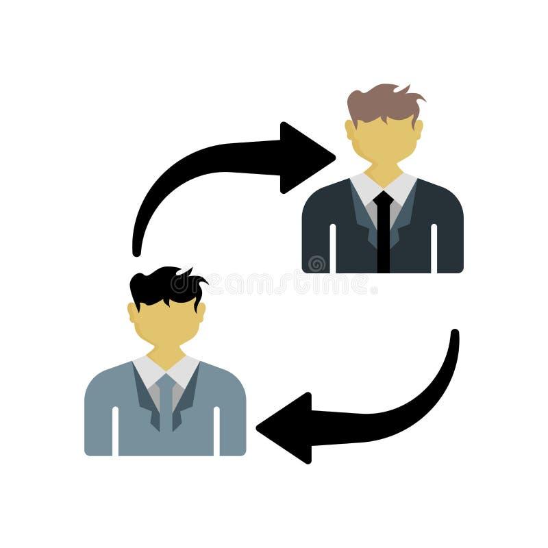 Sinal e símbolo do vetor do ícone do debate isolados no fundo branco ilustração stock