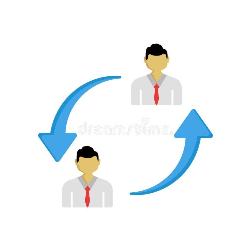 Sinal e símbolo do vetor do ícone do debate isolados no fundo branco ilustração do vetor