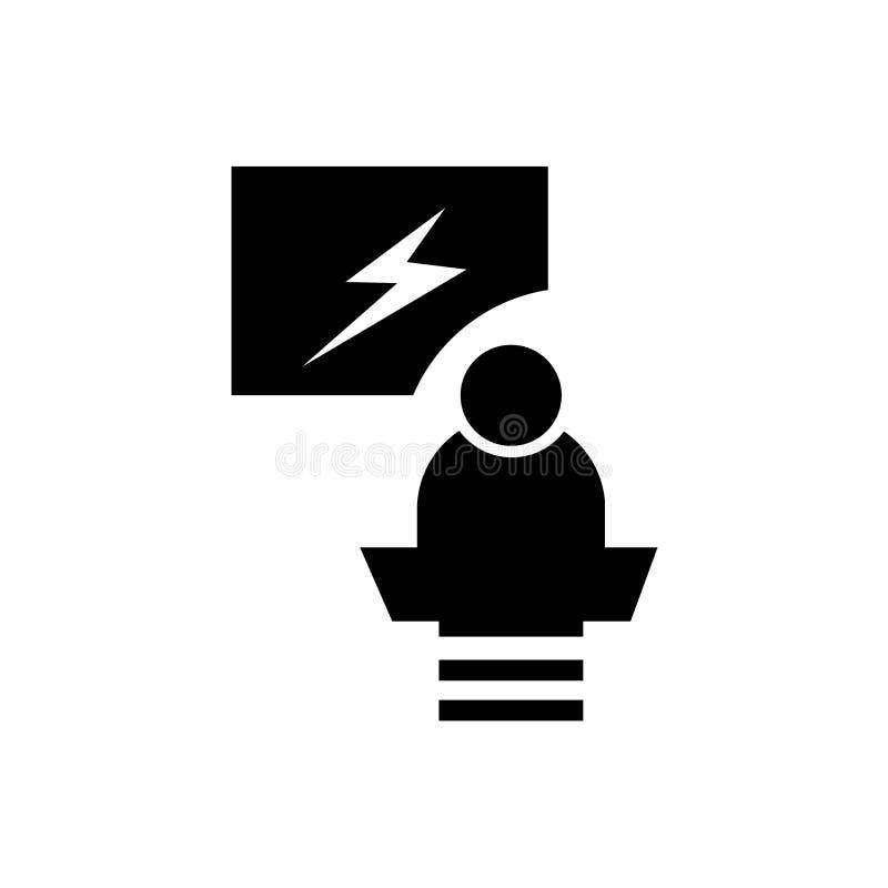 Sinal e símbolo do vetor do ícone do debate isolados no fundo branco, conceito do logotipo do debate ilustração stock