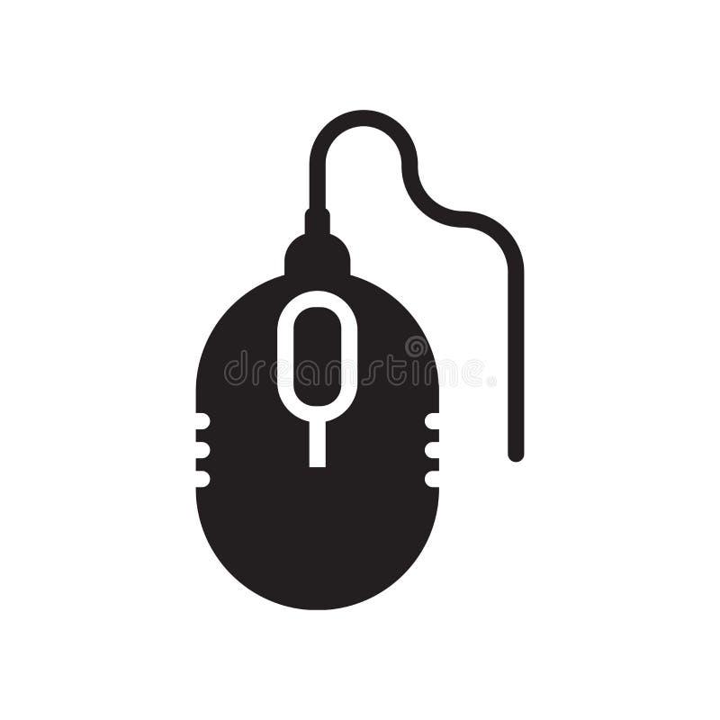 Sinal e símbolo do vetor do ícone do dispositivo de rato do computador isolados no fundo branco, conceito do logotipo do disposit ilustração stock