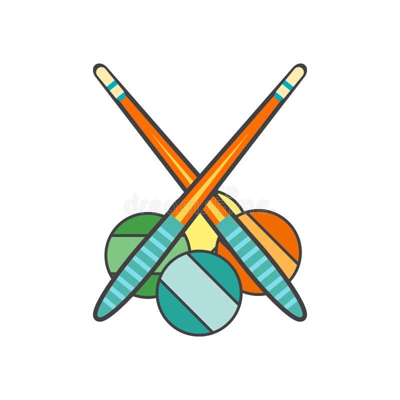 Sinal e símbolo do vetor do ícone dos bilhar isolados no fundo branco, conceito do logotipo dos bilhar ilustração stock