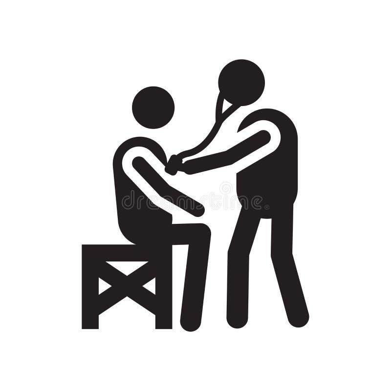 Sinal e símbolo do vetor do ícone dos cuidados médicos isolados no fundo branco, conceito do logotipo dos cuidados médicos ilustração do vetor