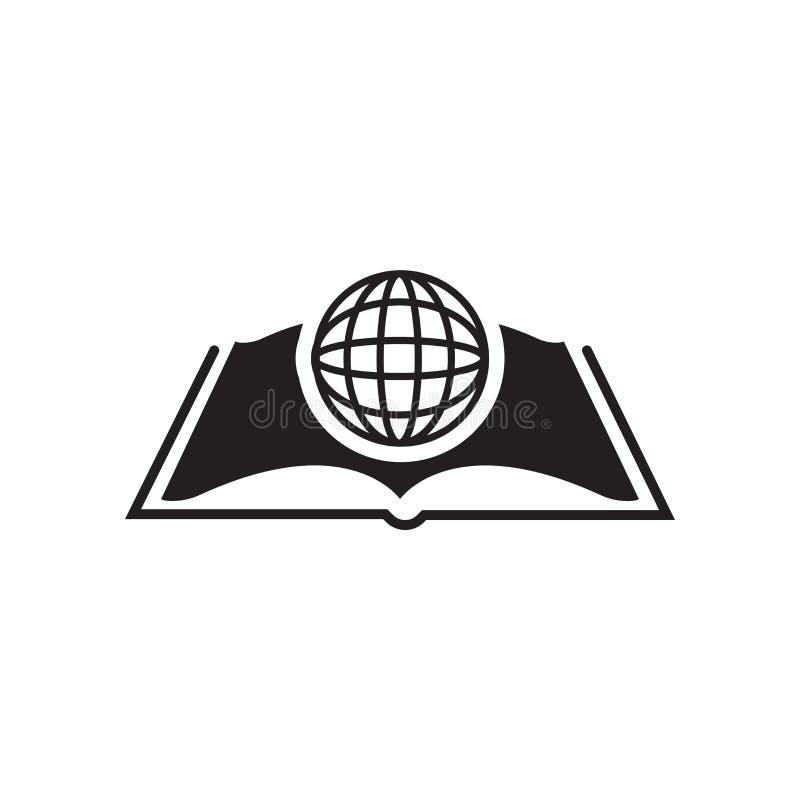 Sinal e símbolo do vetor do ícone dos estudos do International isolados no wh ilustração stock