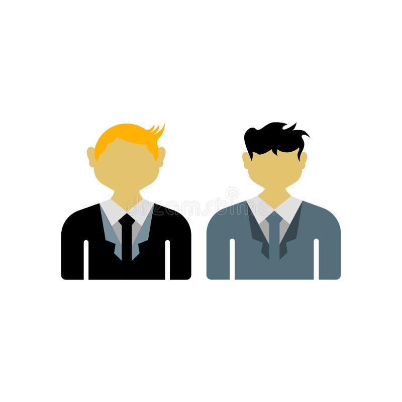 Sinal e símbolo do vetor do ícone dos políticos isolados no backgr branco ilustração royalty free