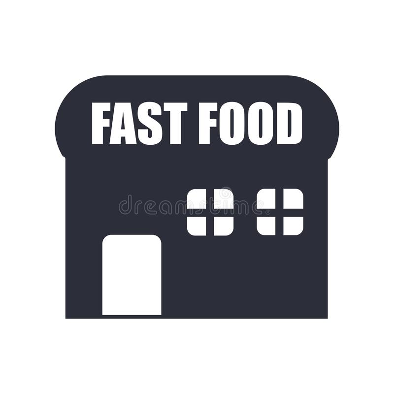 Sinal e símbolo do vetor do ícone dos restaurantes isolados no fundo branco, conceito do logotipo dos restaurantes ilustração do vetor