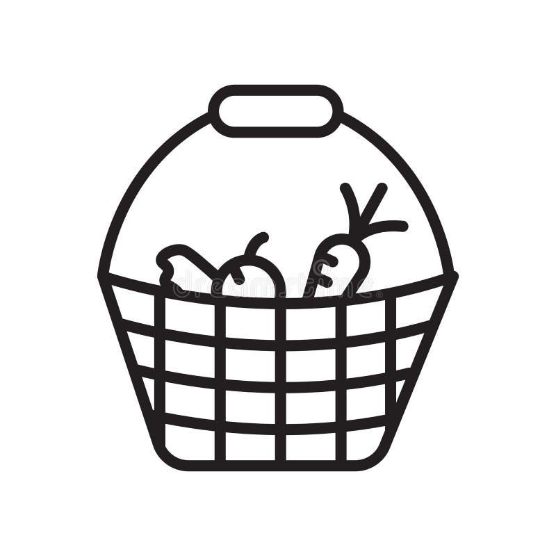 Sinal e símbolo do vetor do ícone dos vegetais isolados no fundo branco, conceito do logotipo dos vegetais, símbolo do esboço, si ilustração stock