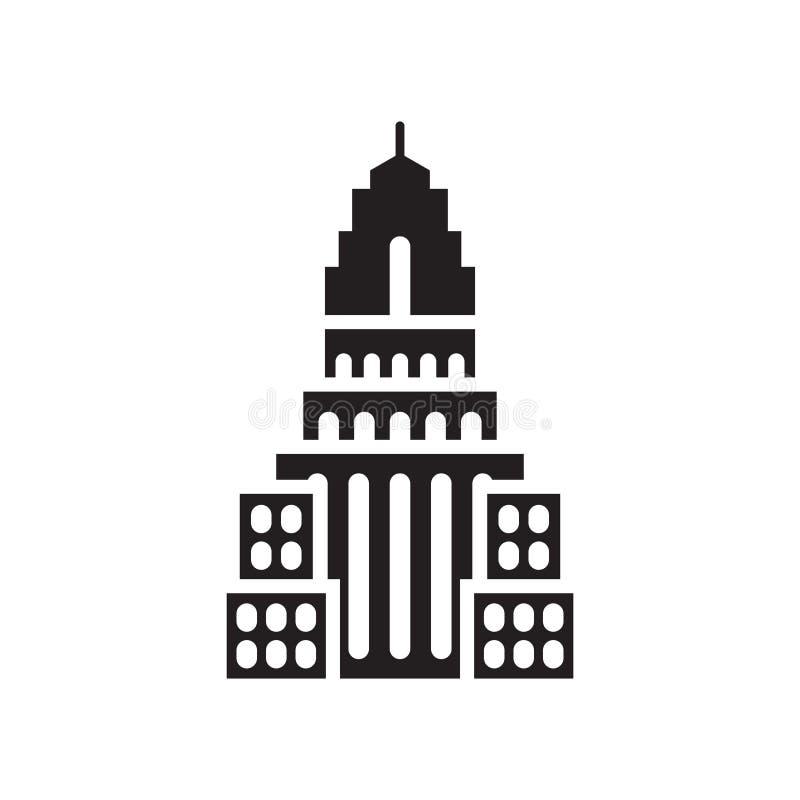 Sinal e símbolo do vetor do ícone do estado do império isolados no backg branco ilustração stock