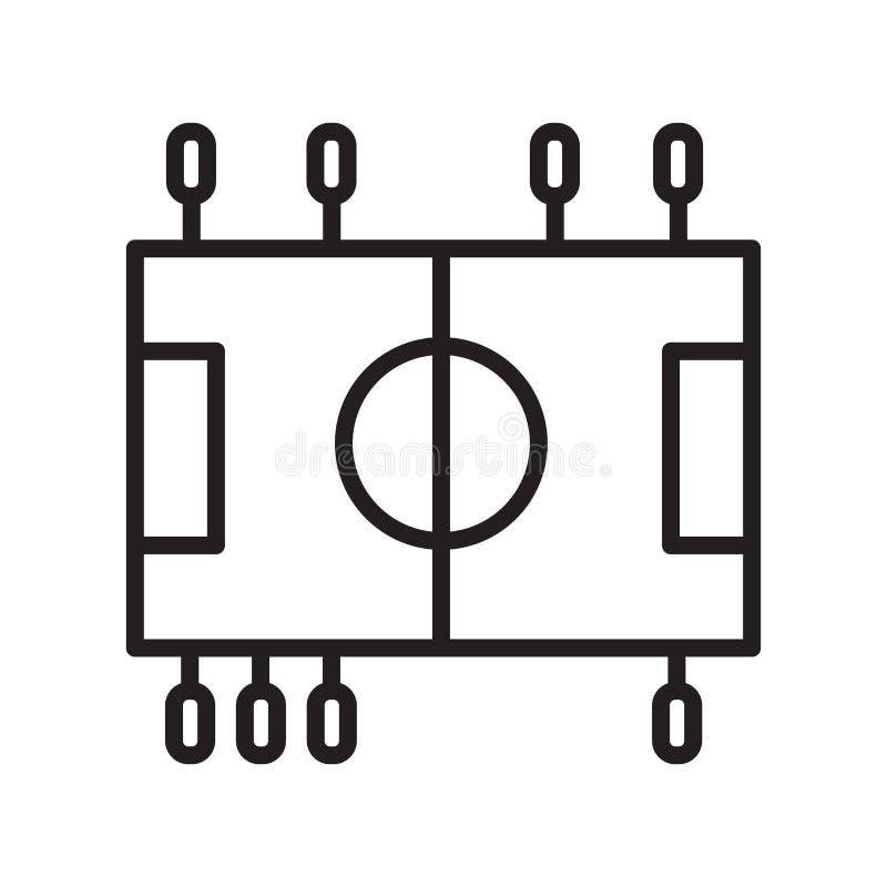 Sinal e símbolo do vetor do ícone do futebol da tabela isolados no backg branco ilustração royalty free