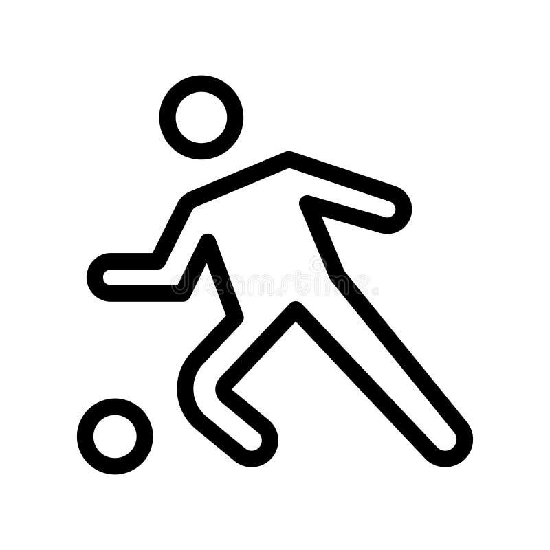 Sinal e símbolo do vetor do ícone do futebol isolados no backgroun branco ilustração do vetor