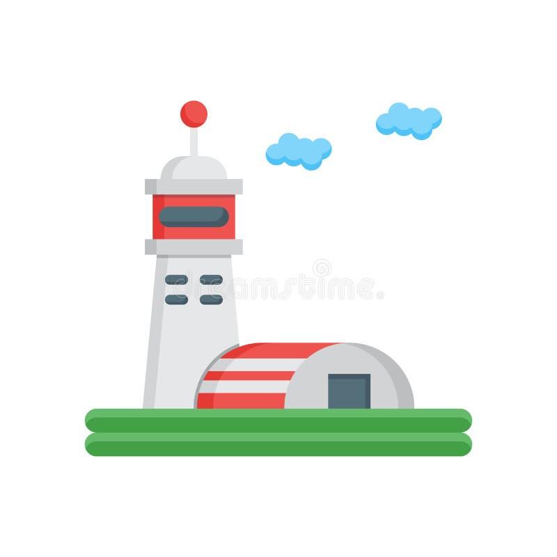 Sinal e símbolo do vetor do ícone do hangar isolados no fundo branco ilustração stock