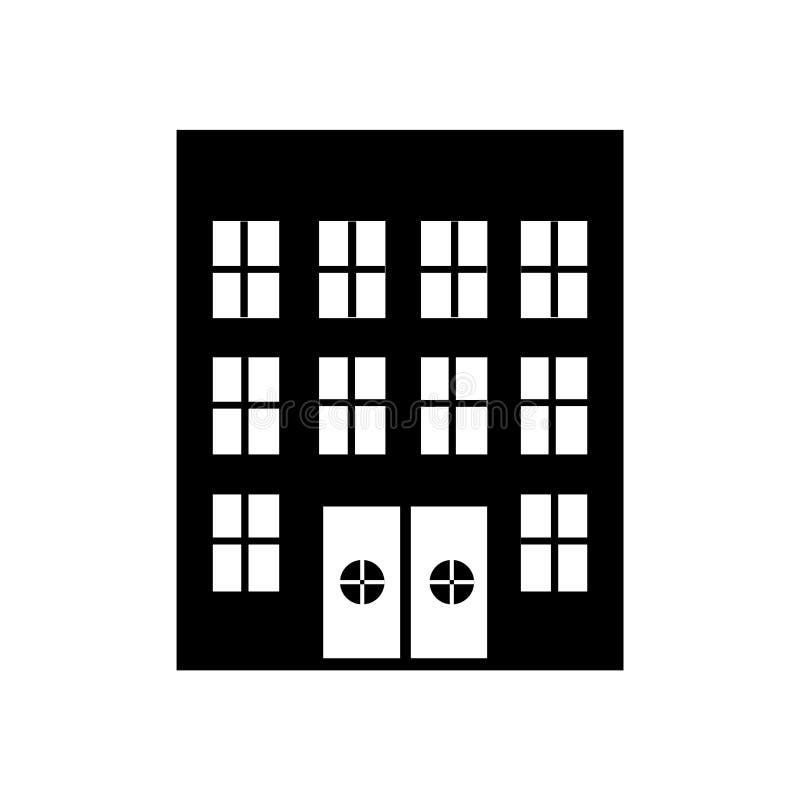 Sinal e símbolo do vetor do ícone do hospital isolados no fundo branco, conceito do logotipo do hospital ilustração stock
