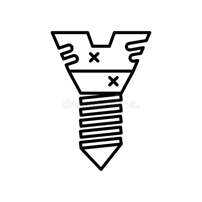 sinal e símbolo do vetor do ícone isolados no fundo branco, conceito do logotipo ilustração royalty free