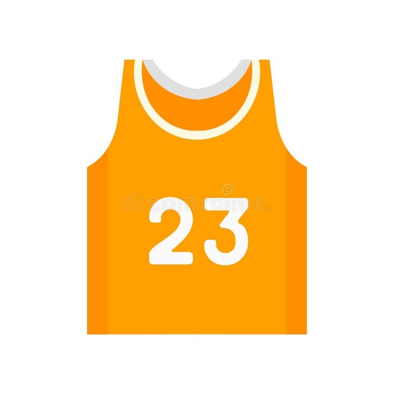 Sinal e símbolo do vetor do ícone do jérsei do basquetebol isolados no fundo branco, conceito do logotipo do jérsei do basquetebo ilustração royalty free