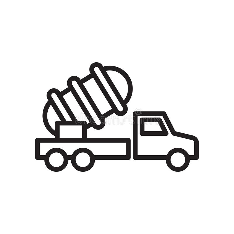 Sinal e símbolo do vetor do ícone do lançador isolados no fundo branco, conceito do logotipo do lançador, símbolo do esboço, sina ilustração stock