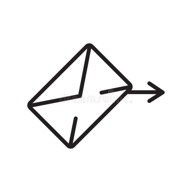 Sinal e símbolo do vetor do ícone do e-mail isolados no fundo branco, conceito do logotipo do e-mail, símbolo do esboço, sinal li ilustração do vetor