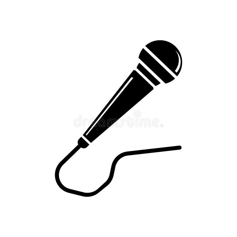 Sinal e símbolo do vetor do ícone do microfone isolados no backgro branco ilustração royalty free