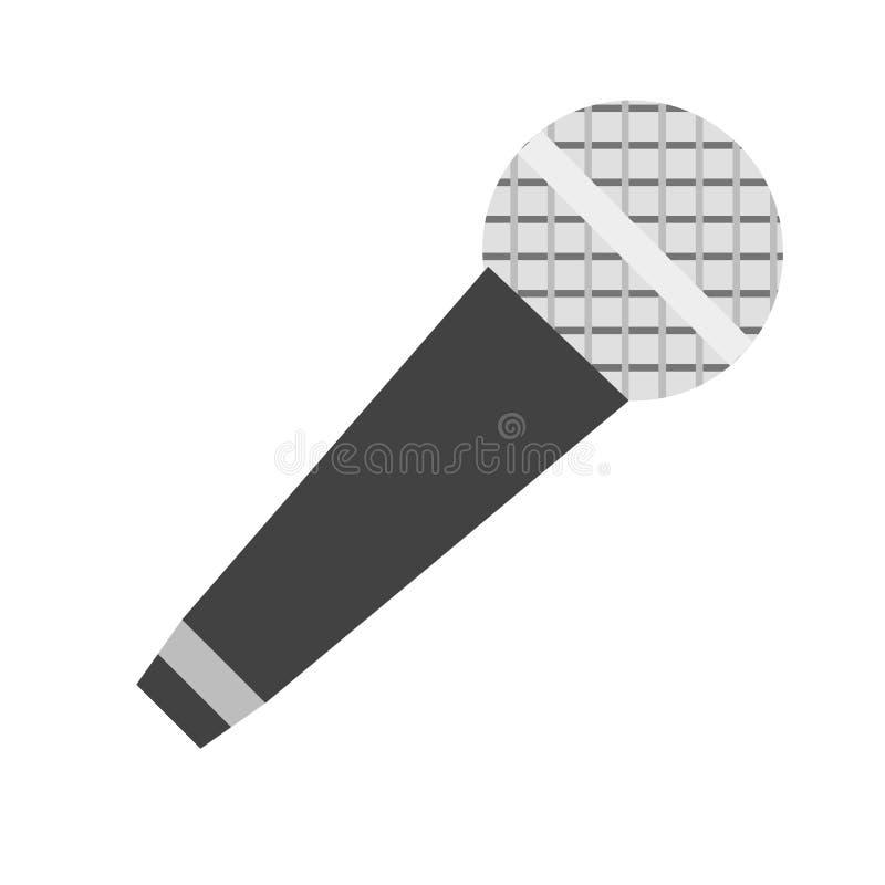 Sinal e símbolo do vetor do ícone do microfone isolados no fundo branco, conceito do logotipo do microfone ilustração royalty free