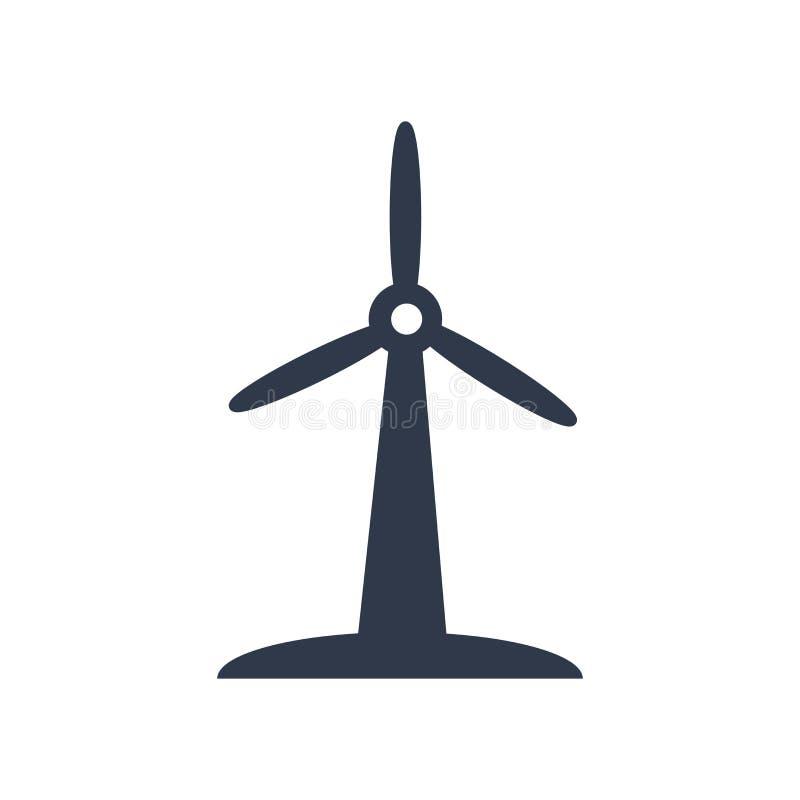 Sinal e símbolo do vetor do ícone do moinho de vento isolados no backgrou branco ilustração stock