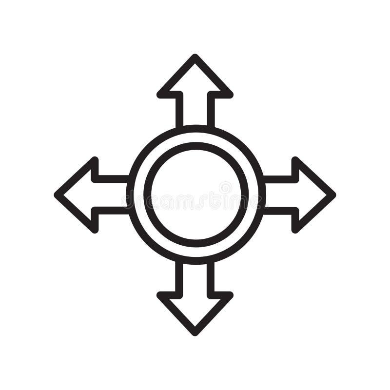 Sinal e símbolo do vetor do ícone do movimento isolados no fundo branco, M ilustração stock