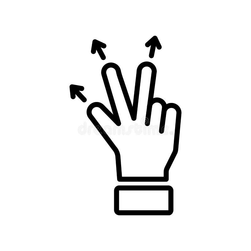 Sinal e símbolo do vetor do ícone do movimento isolados no fundo branco, M ilustração royalty free