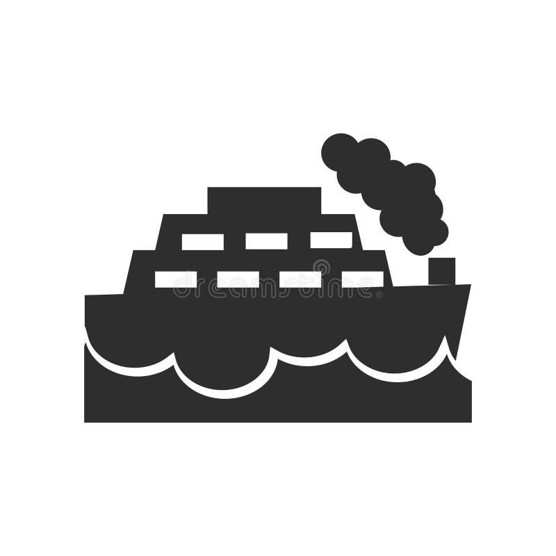Sinal e símbolo do vetor do ícone do navio isolados no fundo branco, conceito do logotipo do navio ilustração royalty free
