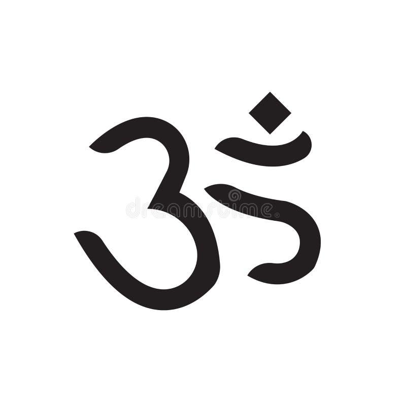 Sinal e símbolo do vetor do ícone do OM isolados no fundo branco, conceito do logotipo do OM ilustração stock