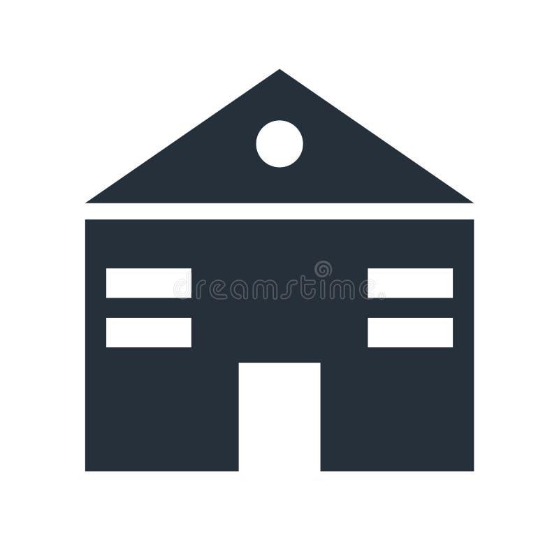 Sinal e símbolo do vetor do ícone do página da web da casa isolados no fundo branco, conceito do logotipo do página da web da cas ilustração stock
