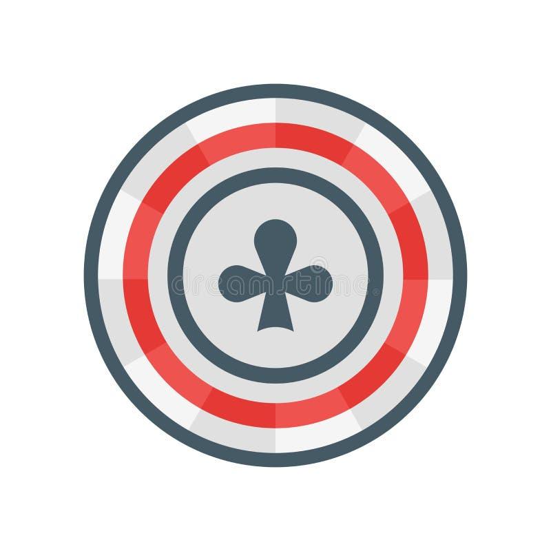 Sinal e símbolo do vetor do ícone do pôquer isolados no fundo branco ilustração royalty free